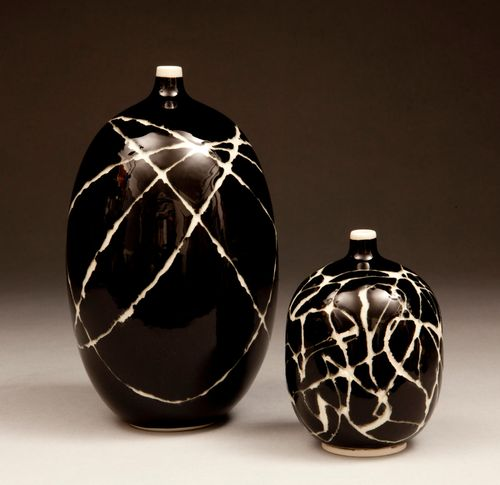Black Sgraffito on Porcelain