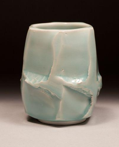 Celadon on Carved Porcelain
